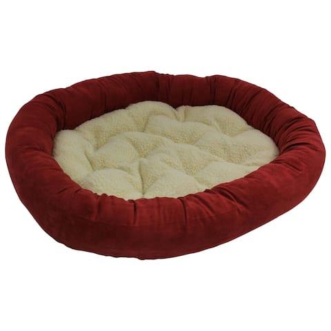 Blazing Needles Large Microsuede Bolster Pet Bed (42x28)