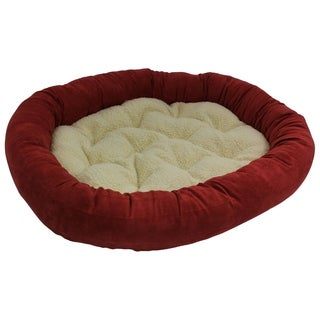 Blazing Needles Large Microsuede Bolster Pet Bed (42x28)