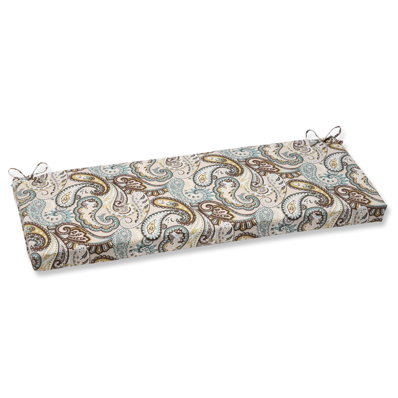 Pillow Perfect Outdoor Tamara Paisley Quartz Bench Cushion