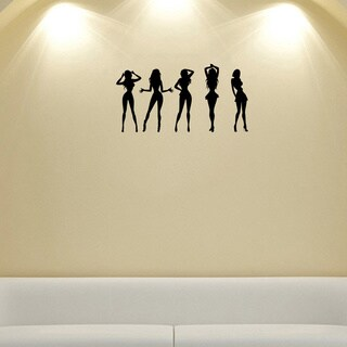 Girls Dancing Silhouette Wall Vinyl Decal