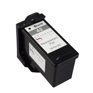 Sophia Global Remanufactured Black Ink Cartridge for Lexmark 42