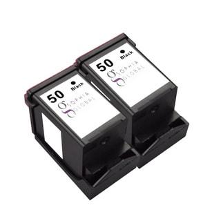 Sophia Global Remanufactured Black Ink Cartridge for Lexmark 50 (Pack of 2)