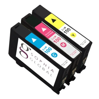 Sophia Global Compatible Ink Cartridge Replacement for Lexmark 100 (1 Cyan, 1 Magenta, 1 Yellow)