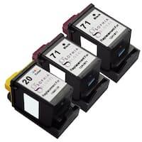 Sophia Global Remanufactured Ink Cartridge for Lexmark 71 and Lexmark 20 (2 Black, 1 Color)