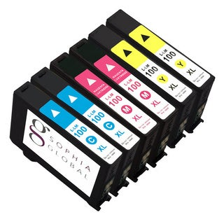 Sophia Global Compatible Ink Cartridge Replacement for Lexmark 100XL (2 Cyan, 2 Magenta, 2 Yellow)