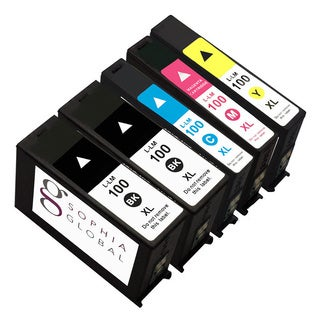 Sophia Global Compatible Ink Cartridge Replacement for Lexmark 100XL (2 Black, 1 Cyan, 1 Magenta, 1 Yellow)