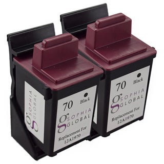 Sophia Global Remanufactured Ink Cartridge for Lexmark 70 (2 Black)