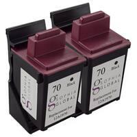 Sophia Global Remanufactured Ink Cartridge for Lexmark 70 (2 Black)