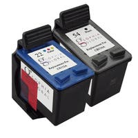 Sophia Global Remanufactured Ink Cartridge Replacement for HP 54 (1 Black, 1 Color)