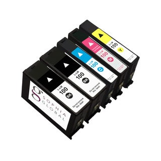 Sophia Global Compatible Ink Cartridge Replacement for Lexmark 100 (2 Black, 1 Cyan, 1 Magenta, 1 Yellow)