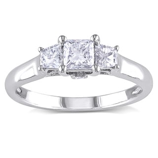 Miadora Signature Collection 14k White Gold 1ct TDW Princess-Cut Diamond Ring