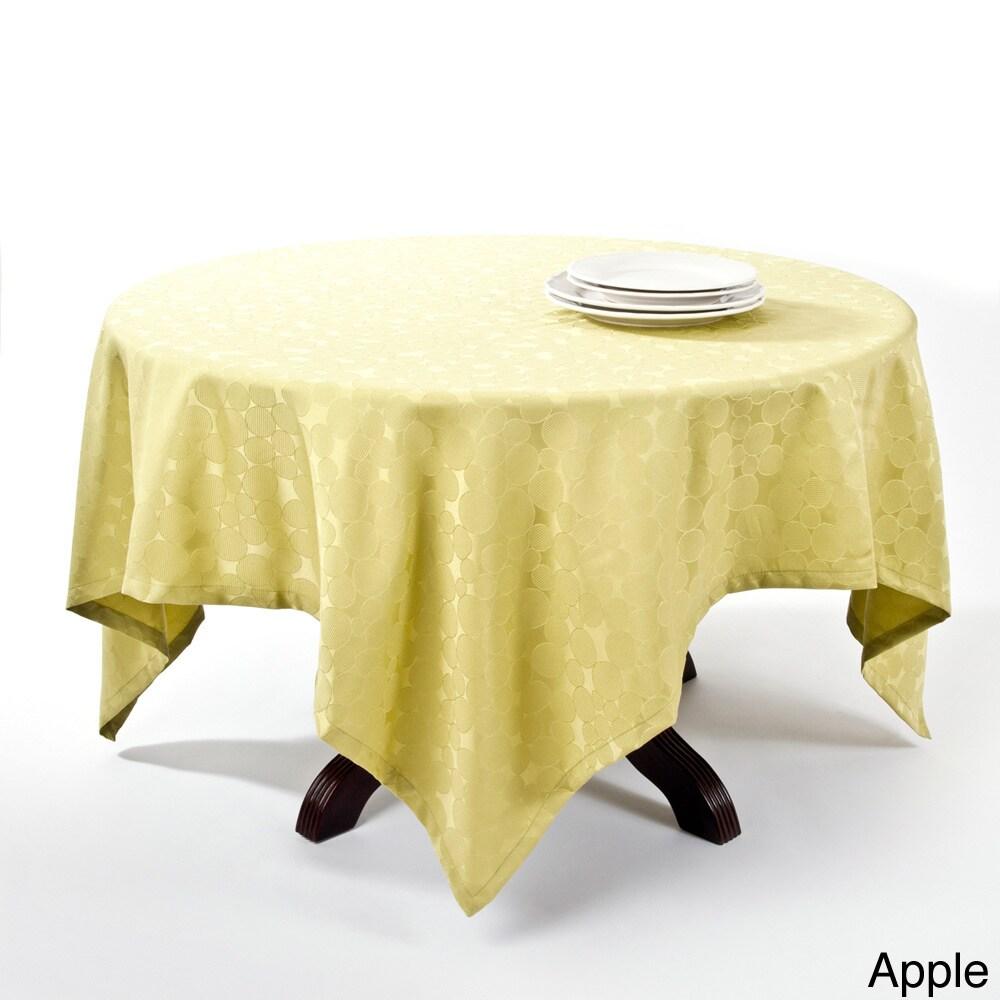 Saro Jacquard Design Polyester Tablecloth (Apple)