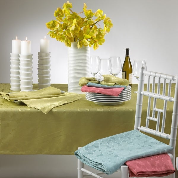 Shop Jacquard Design Polyester Tablecloth Overstock