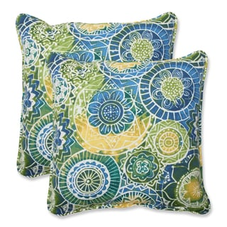 Pillow Perfect Outdoor Omnia Lagoon 18.5-inch Throw Pillow (Set of 2)