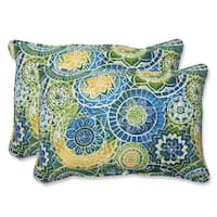 Pillow Perfect Outdoor Omnia Lagoon Over-sized Rectangular Throw Pillow (Set of 2)