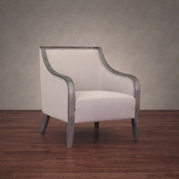 Shop Beaumont Taupe Linen Armchair Free Shipping Today