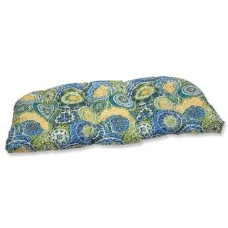 Pillow Perfect Outdoor Omnia Lagoon Wicker Loveseat Cushion