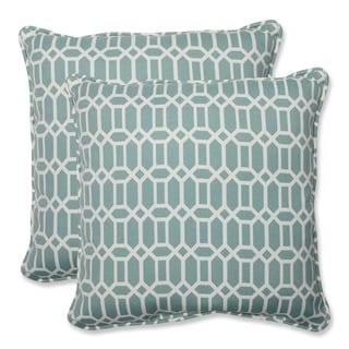 Pillow Perfect Outdoor Rhodes Quartz 18.5-inch Throw Pillow (Set of 2)