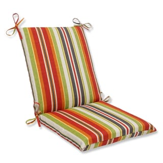 Pillow Perfect Outdoor Roxen Stripe Citrus Squared Corners Chair Cushion