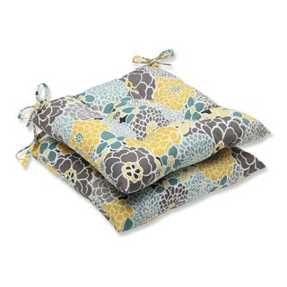 Pillow Perfect Full Bloom Wrought Iron Seat Outdoor Cushions (Set of 2)