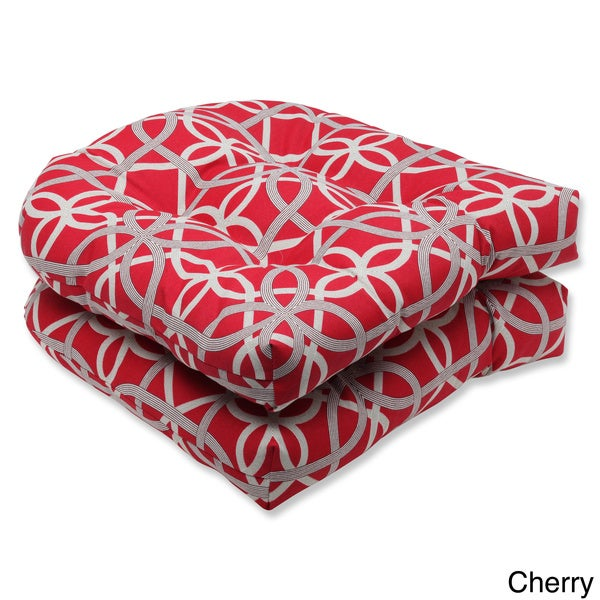 Pillow Perfect Keene Wicker Outdoor Seat Cushions (Set of 2)