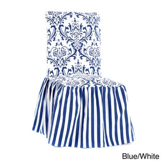 Damask and Stripe Dining Chair Cover (Set of 2)