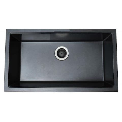 Ukinox Single Basin Granite Composite Undermount Kitchen Sink