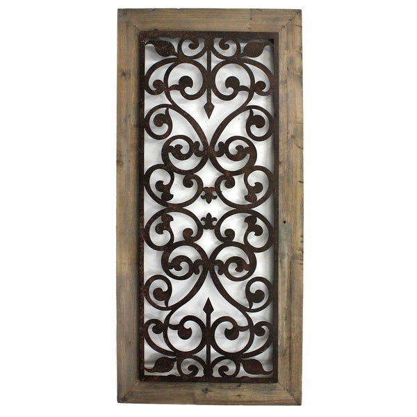 handmade metal and wood scroll work wall plaque china. Black Bedroom Furniture Sets. Home Design Ideas