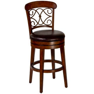 Burrell Brown Cherry Old Steel Swivel Stool Free