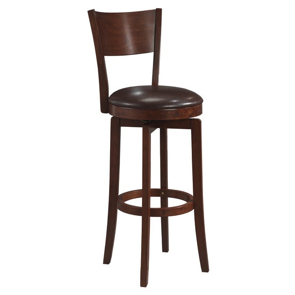 Archer Brown Arched Back Swivel Stool Free Shipping