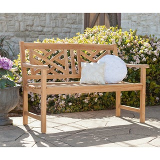 Harper Blvd Latrice Outdoor Teak Chippendale 4-foot Bench
