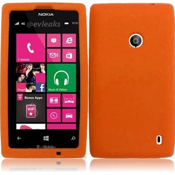 INSTEN Orange Soft Silicone Phone Case Cover for Nokia Lumia 521