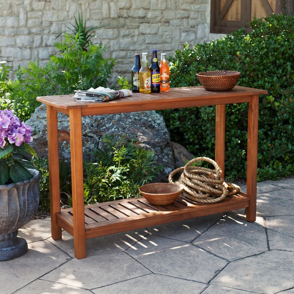 harper blvd ashley hardwood outdoor console table