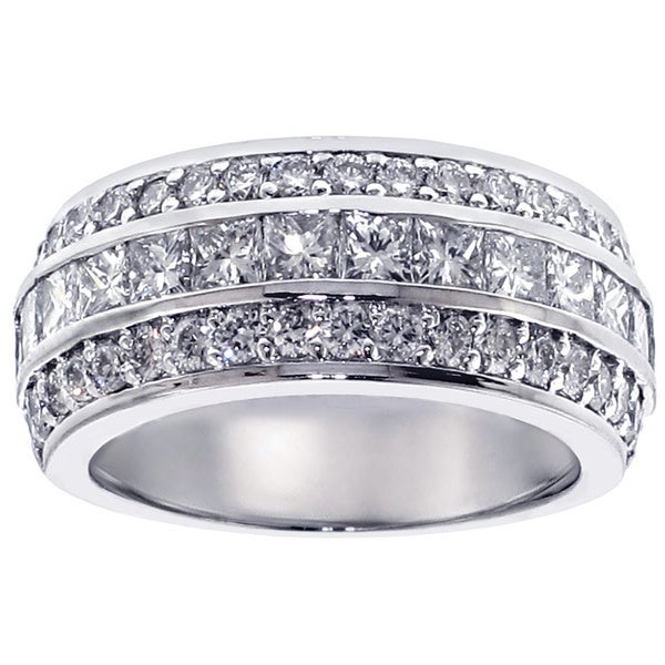 14k White Gold 2ct TDW Diamond Anniversary Band