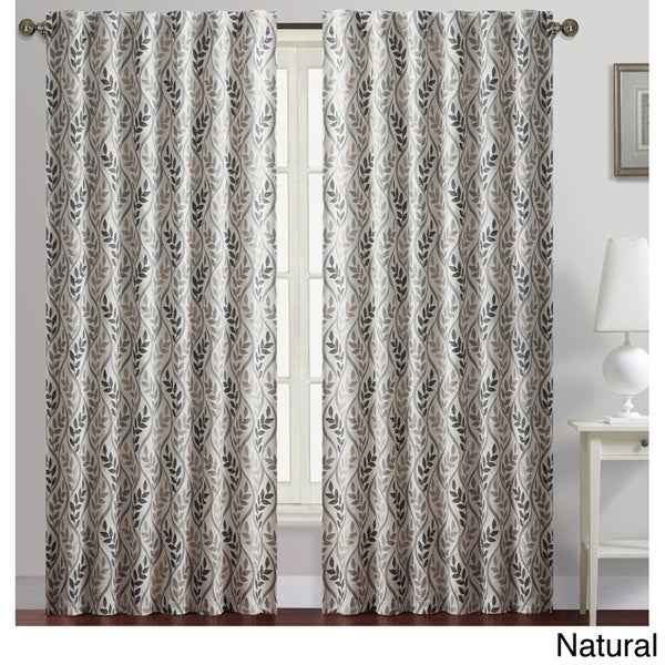 VCNY Rayna Leaves Print Blackout Curtain Panel