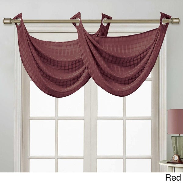 VCNY Drake Double Swag Window Valance