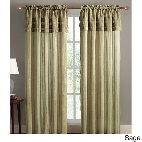 Vcny Meredian Layered 84 Inch Curtain Panel 54 X 84