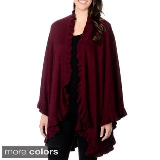 Ply Cashmere Women's Ruffled Collar Wrap (One size)