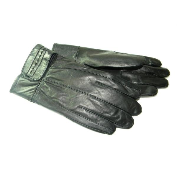 Hollywood Tag Men's Black Leather Gloves