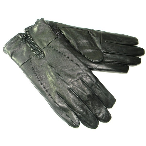 Hollywood Tag Men's Black Leather Gloves