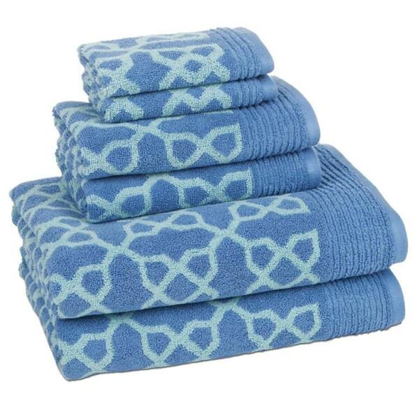 100 Percent Cotton Links 6 Piece Towel Set Free Shipping