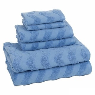 100-Percent Cotton 6-Piece Chevron Towel Set