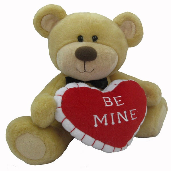 First & Main Valentine's Plush Stuffed Brown Bear