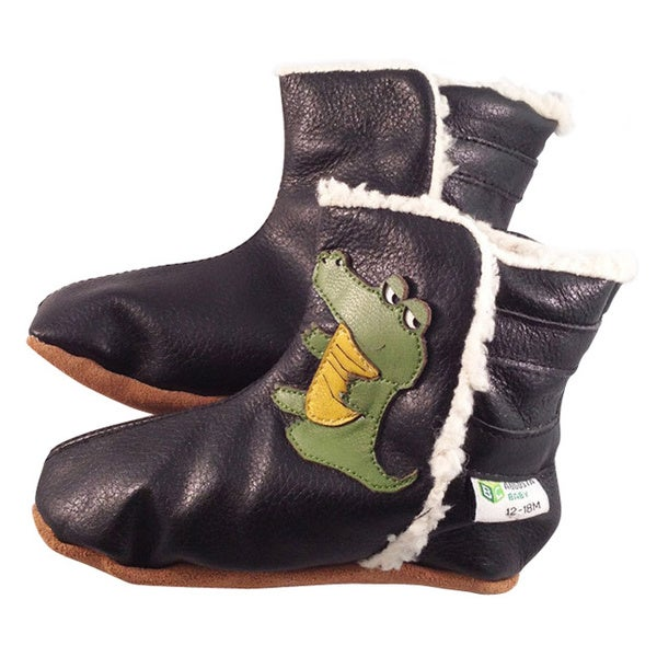 Alligator Soft Sole Leather Baby Boots