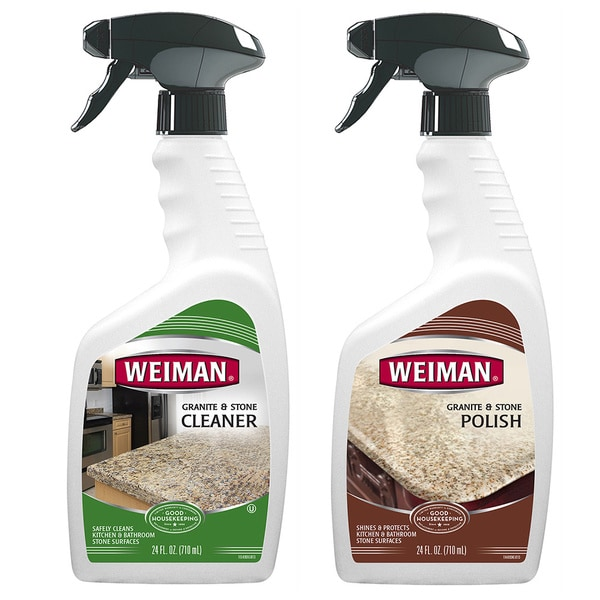 Granite Cleaning Products : Weiman granite cleaner and polishing piece care set