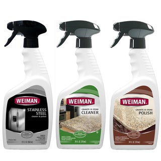 Weiman Granite and Stainless Steel Cleaner and Polishing 3-piece Care Set