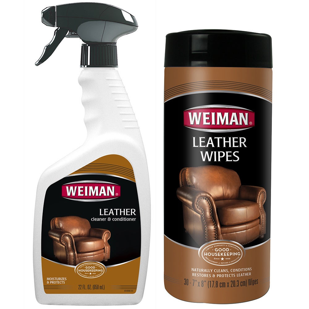WEIMAN Leather Cleaner and Conditioner 2-piece Care Set (...