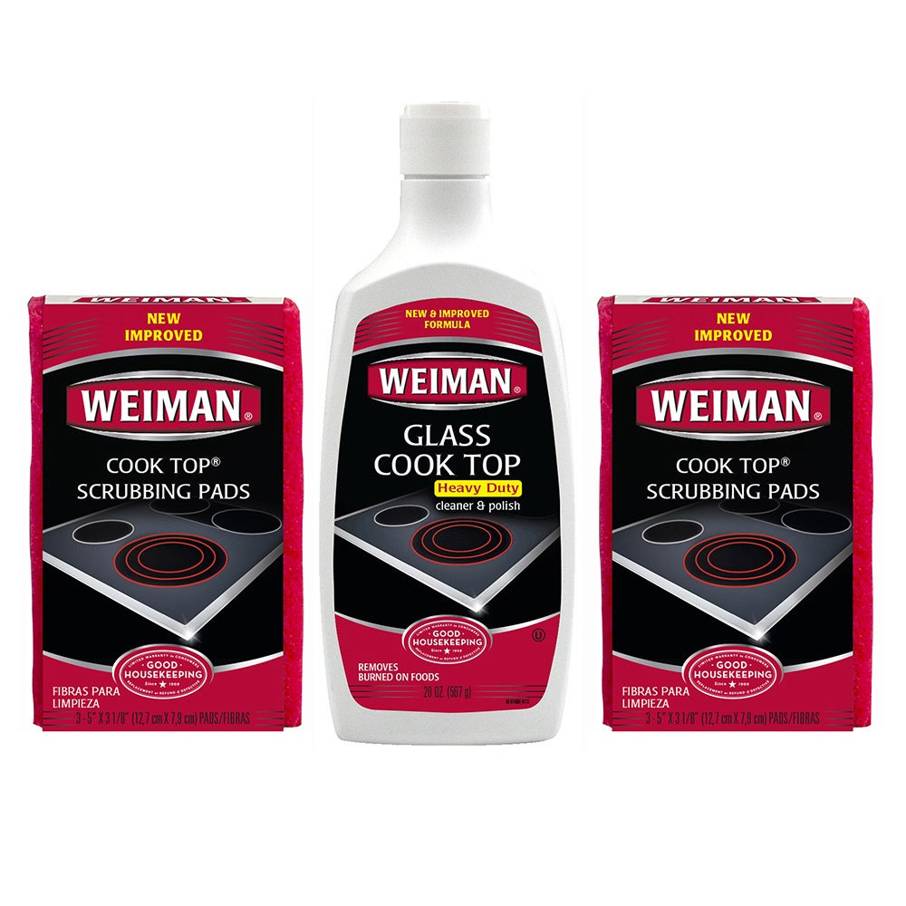 WEIMAN Cook Top Cleaner and Polishing 3-piece Care Set (W...