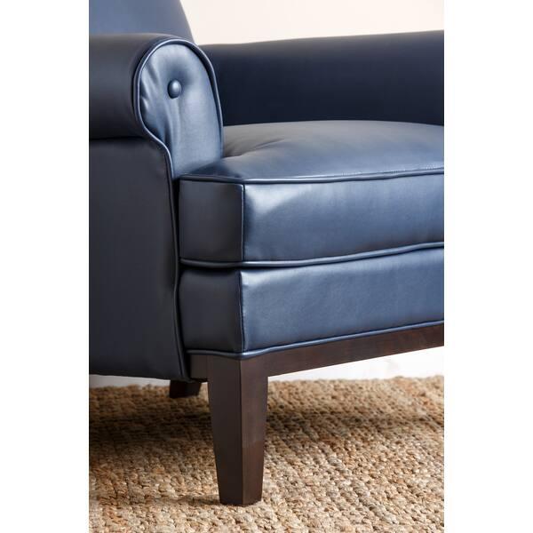 Prime Shop Abbyson Living Kent Royal Blue Bonded Leather Pdpeps Interior Chair Design Pdpepsorg