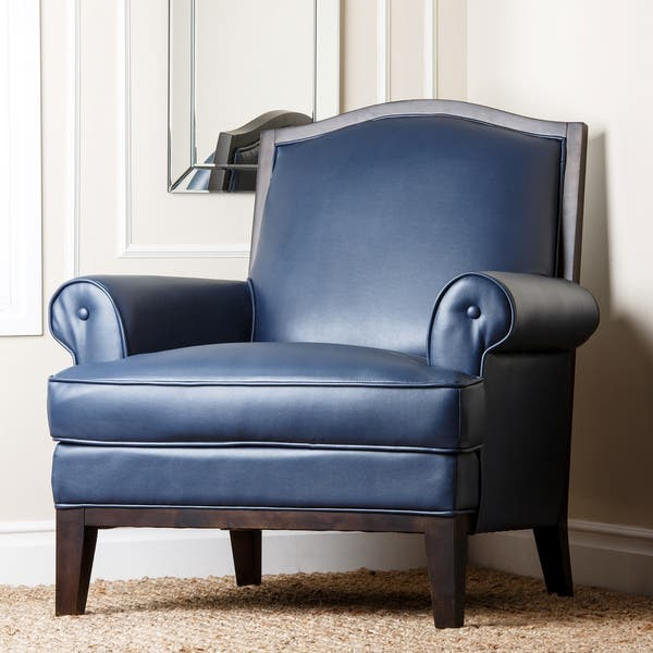Amazing Shop Abbyson Living Kent Royal Blue Bonded Leather Pdpeps Interior Chair Design Pdpepsorg